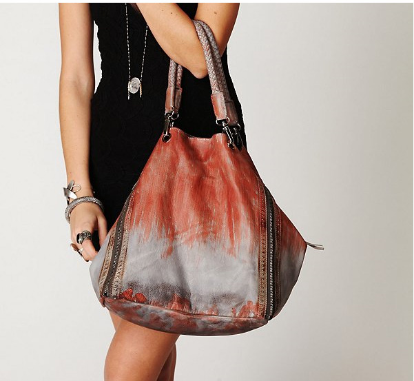 Hand Stained Leather Tote Bag Free People
