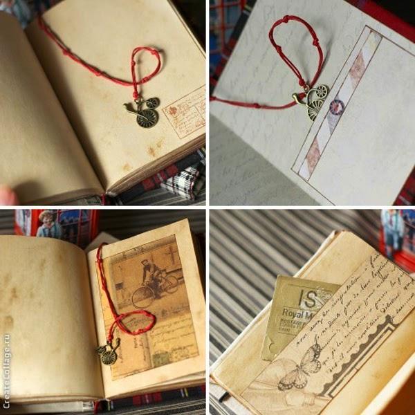 Подарок ко дню учителя, состаренный блокнот, книга ручной работы