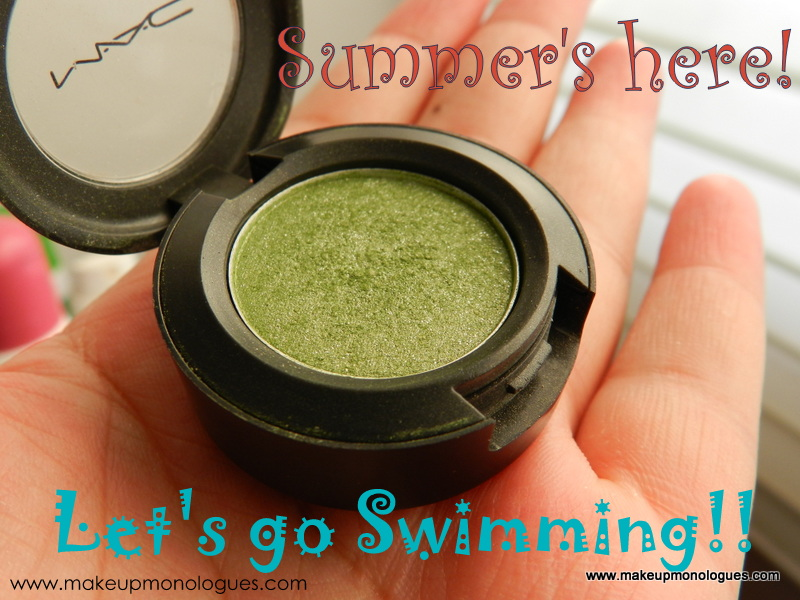 MAC Eyeshadow Swimming review