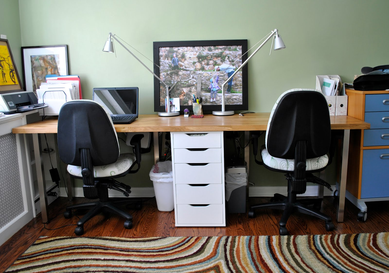 Forty two roads hacking ikea Desk for two persons
