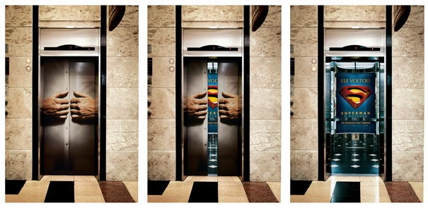 Publicidad Creativa, Superman The Movie, ascensores