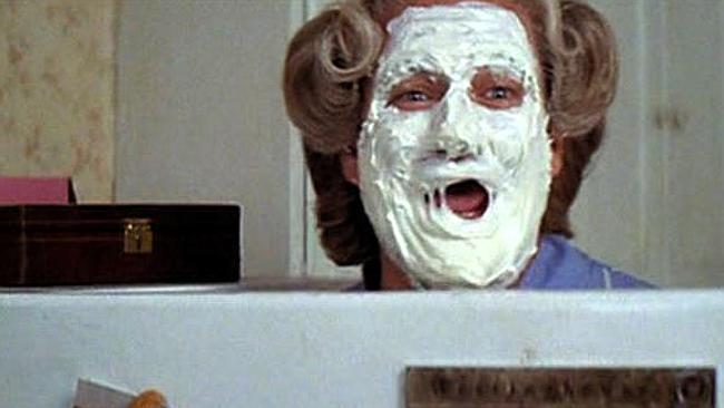 Mrs Doubtfire Cake Face Gif