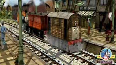 Thomas and friends Toby and Bash Sodor Knapford station platform Toby Henrietta passenger rail coach