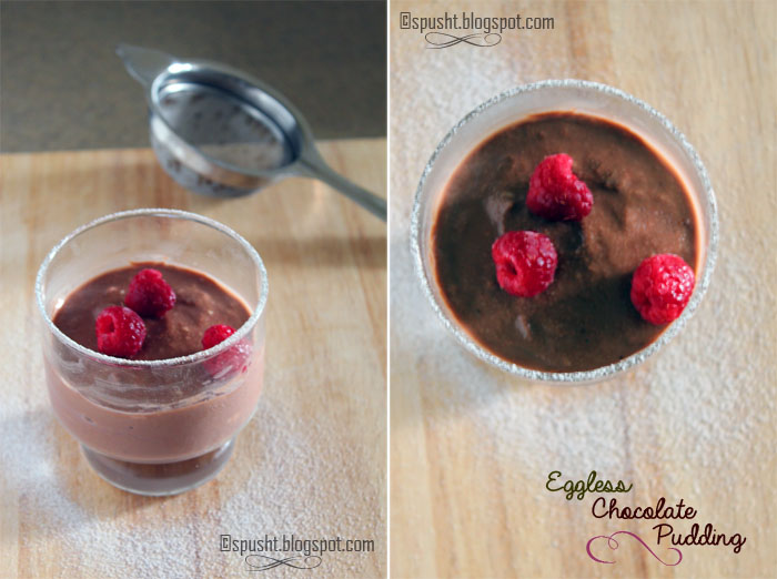 Spusht | Eggless Chocolate Pudding using Cornstarch
