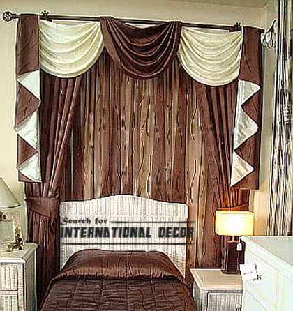 luxury brown curtain design for bedroom, brown curtains, bedroom curtains, luxury curtain