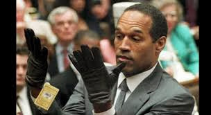 O.J. Simpson trying on glove in murder trial of Nicole Simpson