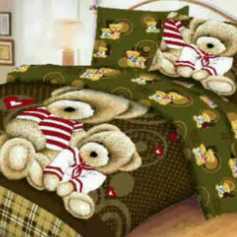 Sprei Panel Bear Sailor Coklat