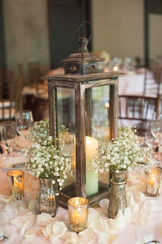 rustic lantern centerpiece