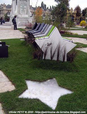 NANCY (54) - Place Stanislas : les jardins éphémères 2010