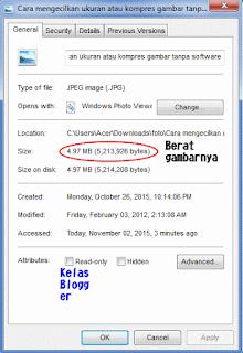 Cara mengecilkan ukuran atau kompres gambar tanpa software