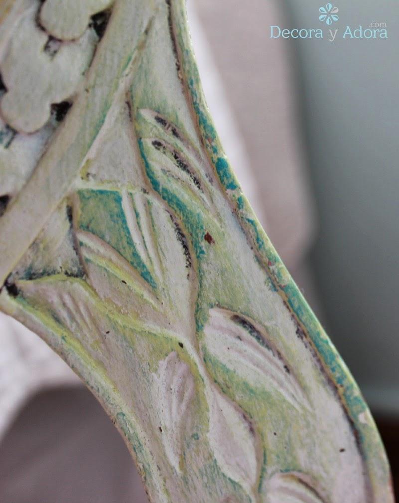 DIY pintar silla de varios colores