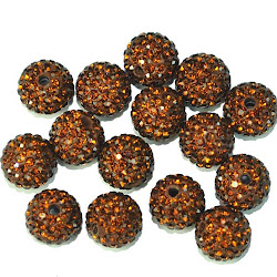 Chocolate Pave' Beads