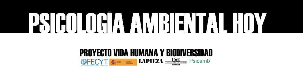 PSICOLOGÍA AMBIENTAL HOY