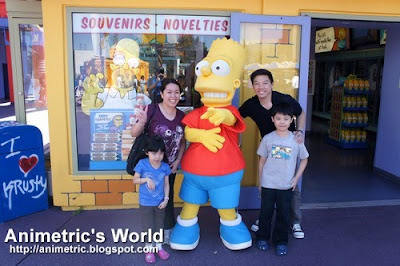 Photo op with Bart Simpson