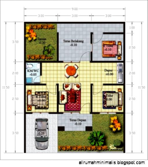 gambar desain denah rumah