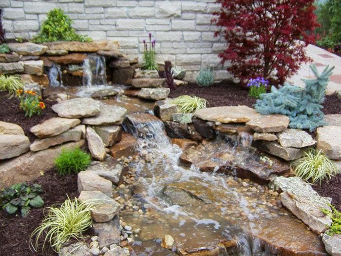Back Yard Home Pondless Waterfall Ideas Backyard Your Home