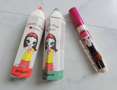 Peripera peri's tint crayons packaging