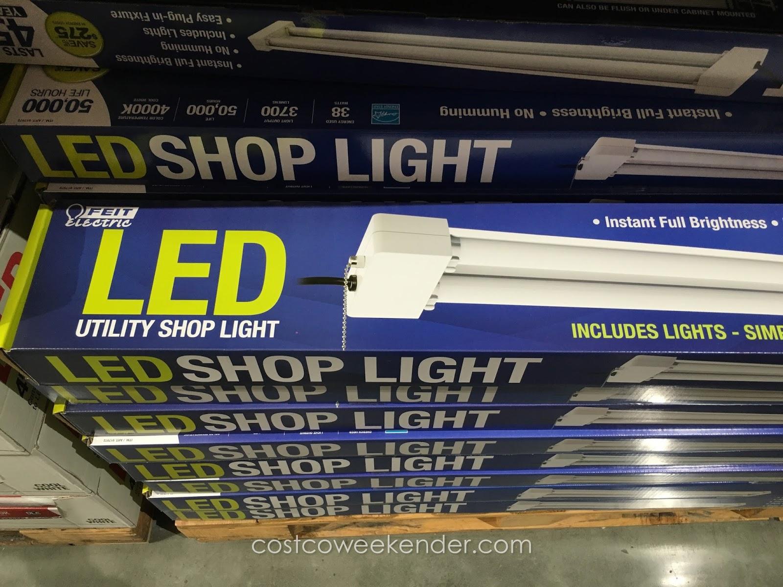 feit electric led utility shop light costco weekender. Black Bedroom Furniture Sets. Home Design Ideas