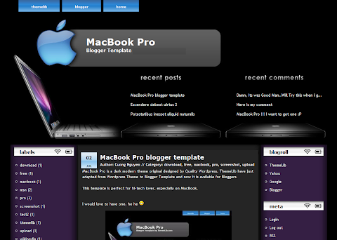 MacBook Pro Blogger Theme