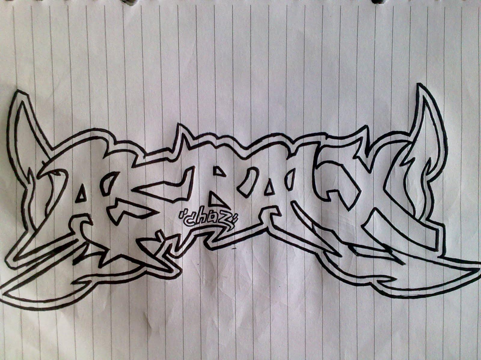 Gambar grafiti keren kertas
