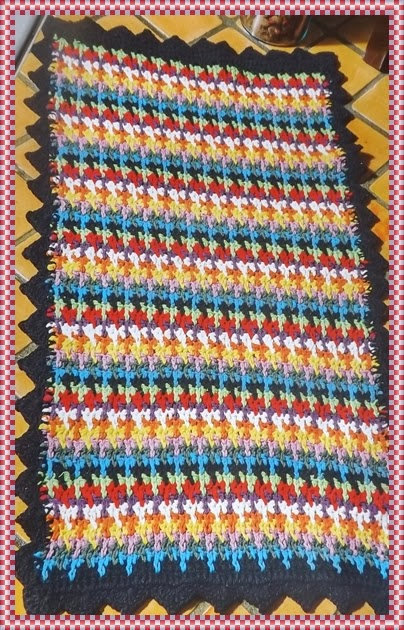 Tapete de croch colorido retangular amor por art em croch - El corte ingles hogar alfombras ...