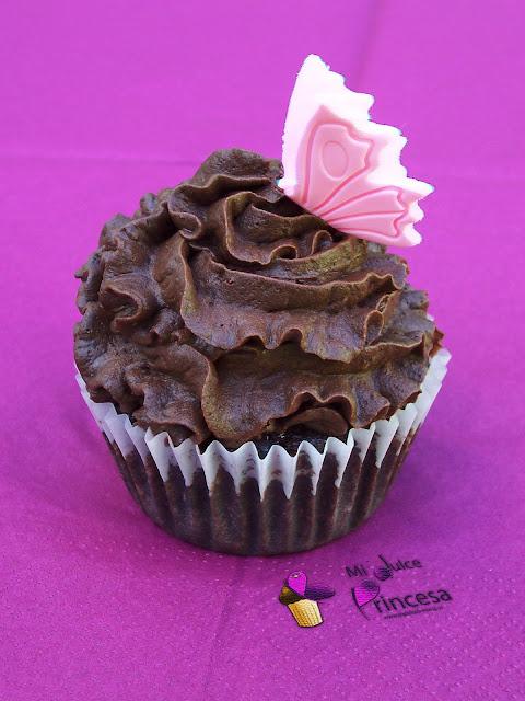 muffin, chocolate, nueces, ganache