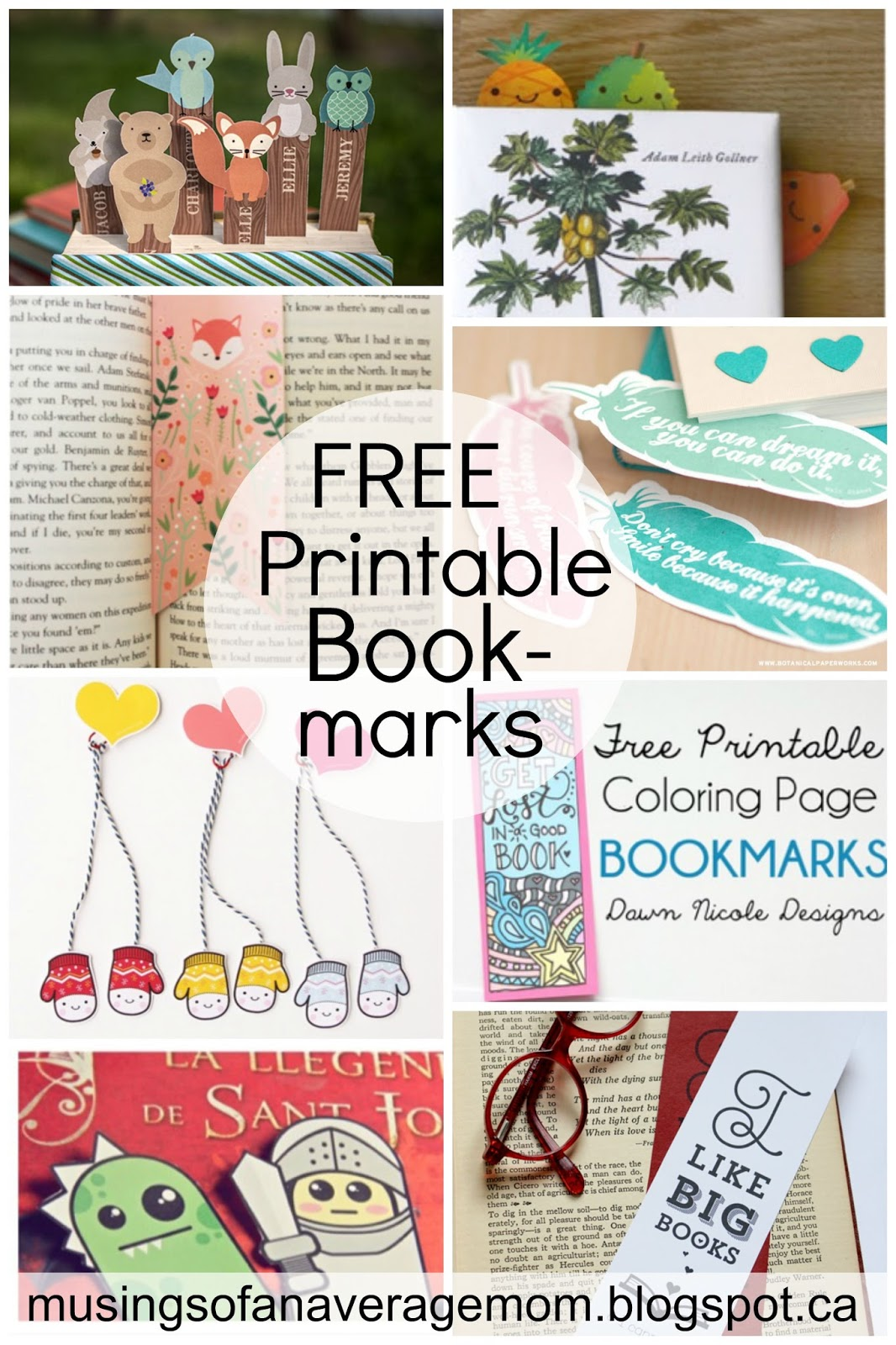 Musings Of An Average Mom Free Printable Bookmarks
