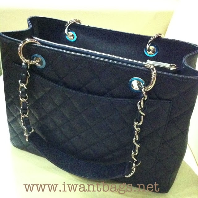 chanel gst grand shopping tote shw blue