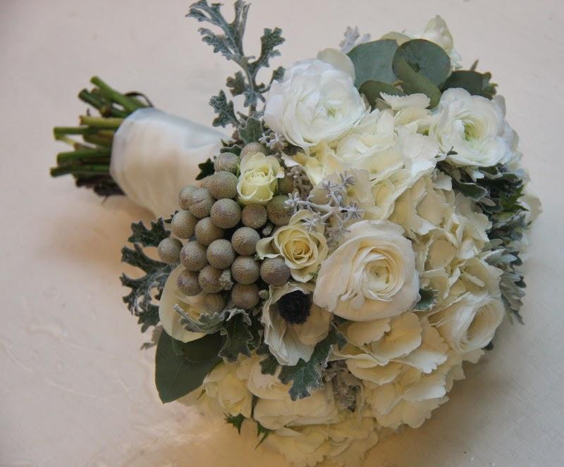 The flower magician winter white silver grey wedding bouquet the flower magician mightylinksfo