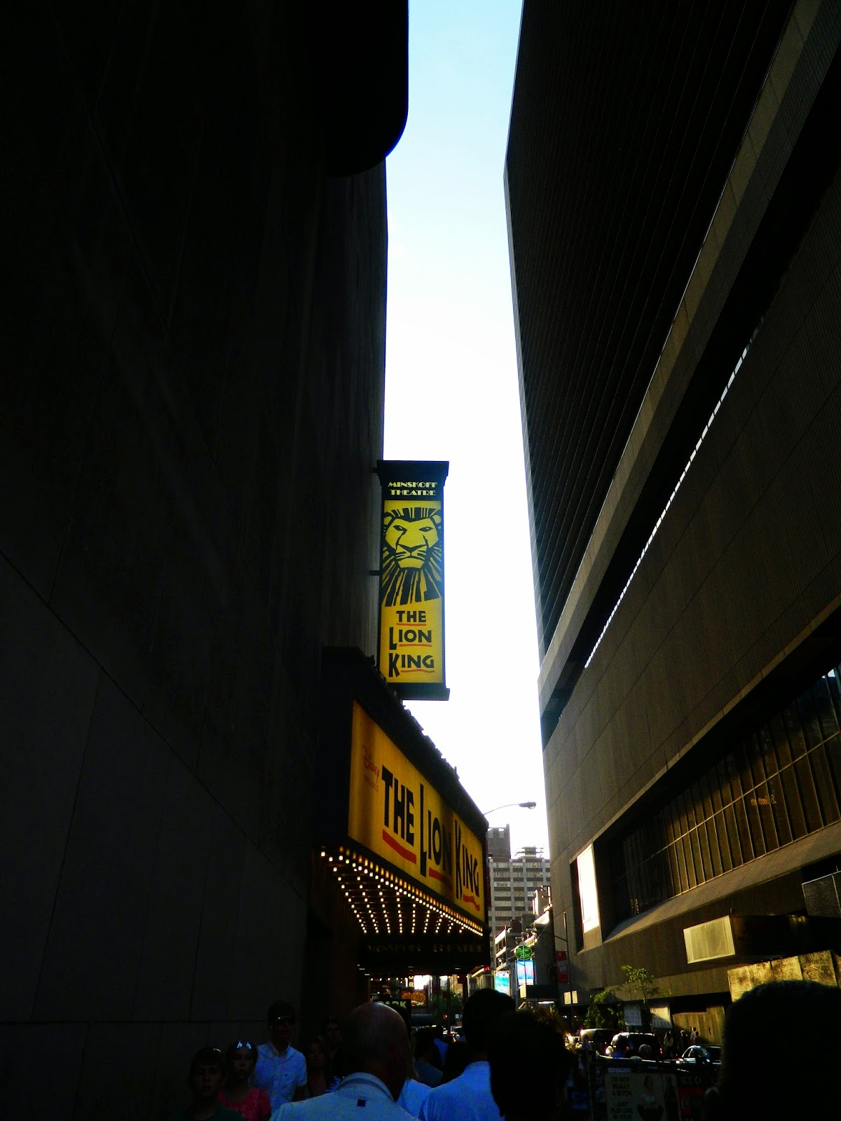 new york city broadway the lion king outside sign