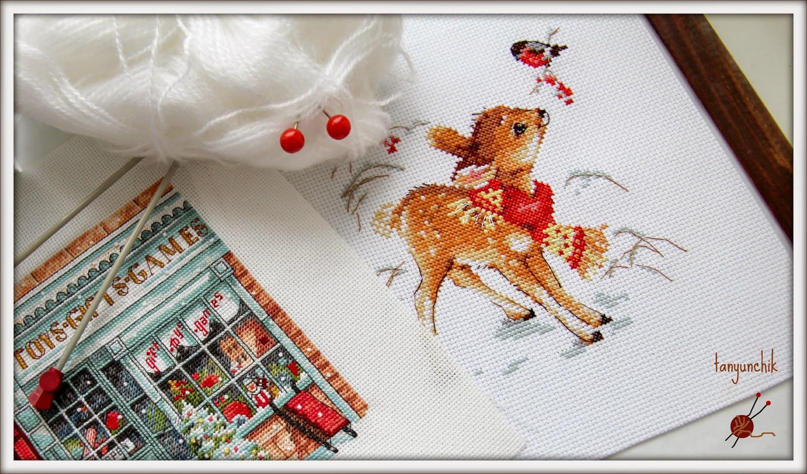 Олененок алиса вышивка