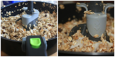 Granola with seeds and coconut flakes