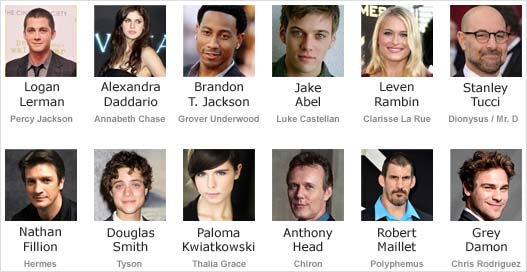 Percy Jackson Sea of Monsters (2013) - Cast