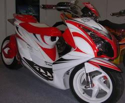 mio sport merah dan putih gambar modifikasi motor mio sport
