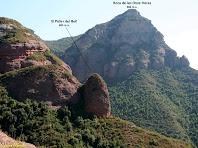 El Paller del Boll i la Roca de les Onze Hores des de les Costes d'en Batlles. Autor: Carlos Albacete