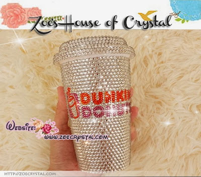 Stylish Bling And Sparkly Crystallized Dunkin Donuts