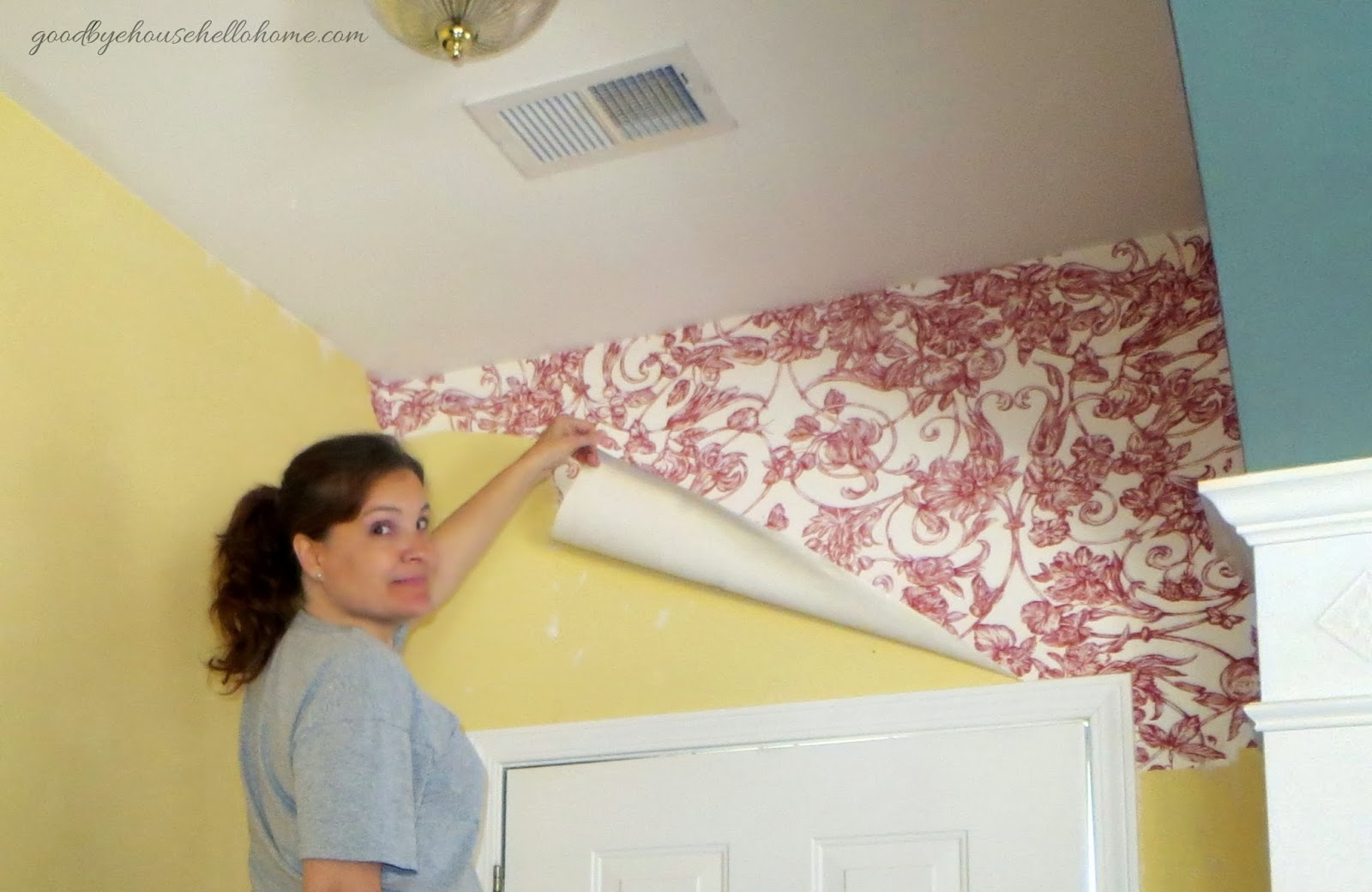 Goodbye house hello home blog january 2014 for Home wallpaper removal tips