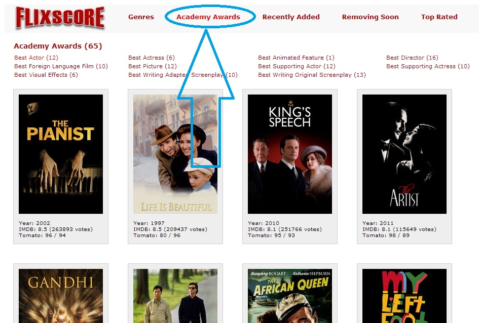 Academy award winning movies in netflix movie blog for Academy award winners on netflix
