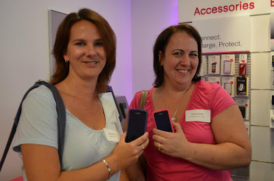 Showing off our T-Mobile phones