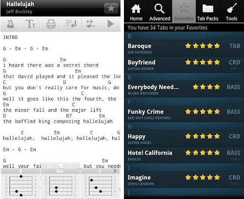 ultimate guitar tabs chords apk v4 2 0 version apkyoung apps android pro