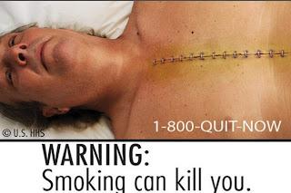 Gambar Seram Baru di Bungkus Rokok