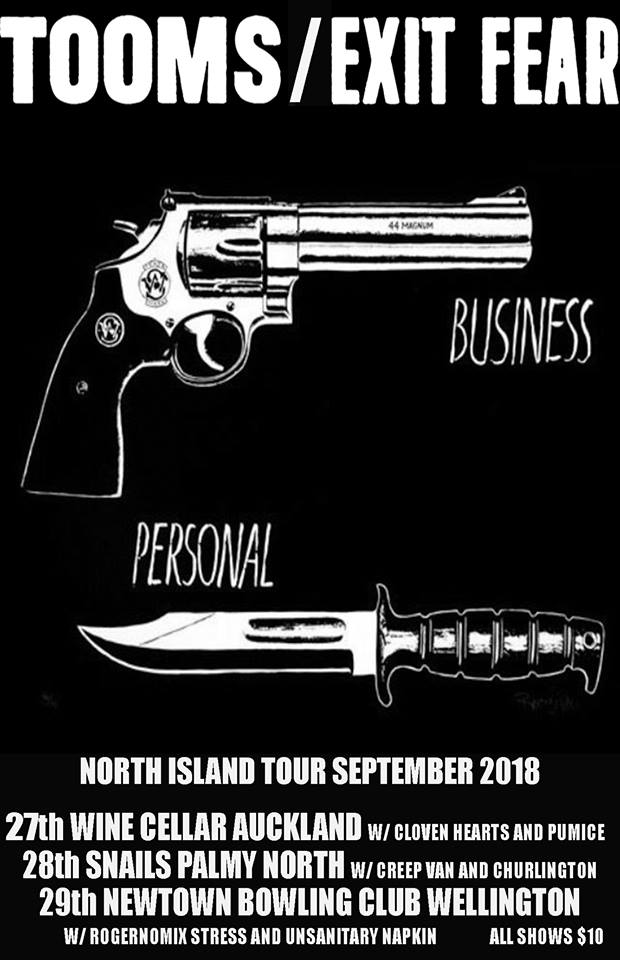 Tooms/Exit Fear Nrth Isl Tour