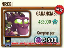 imagen del dragon nirobi en almacen de dragon city