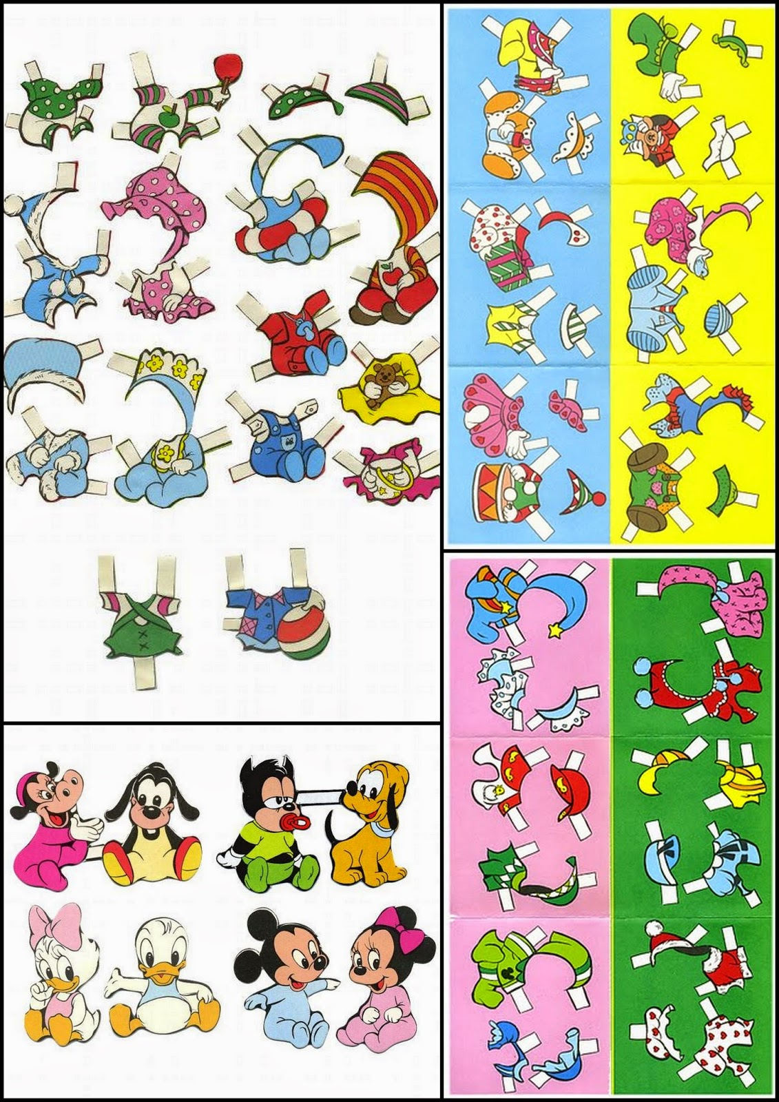 Bebés Disney: Muñecos Recortables para Imprimir Gratis.