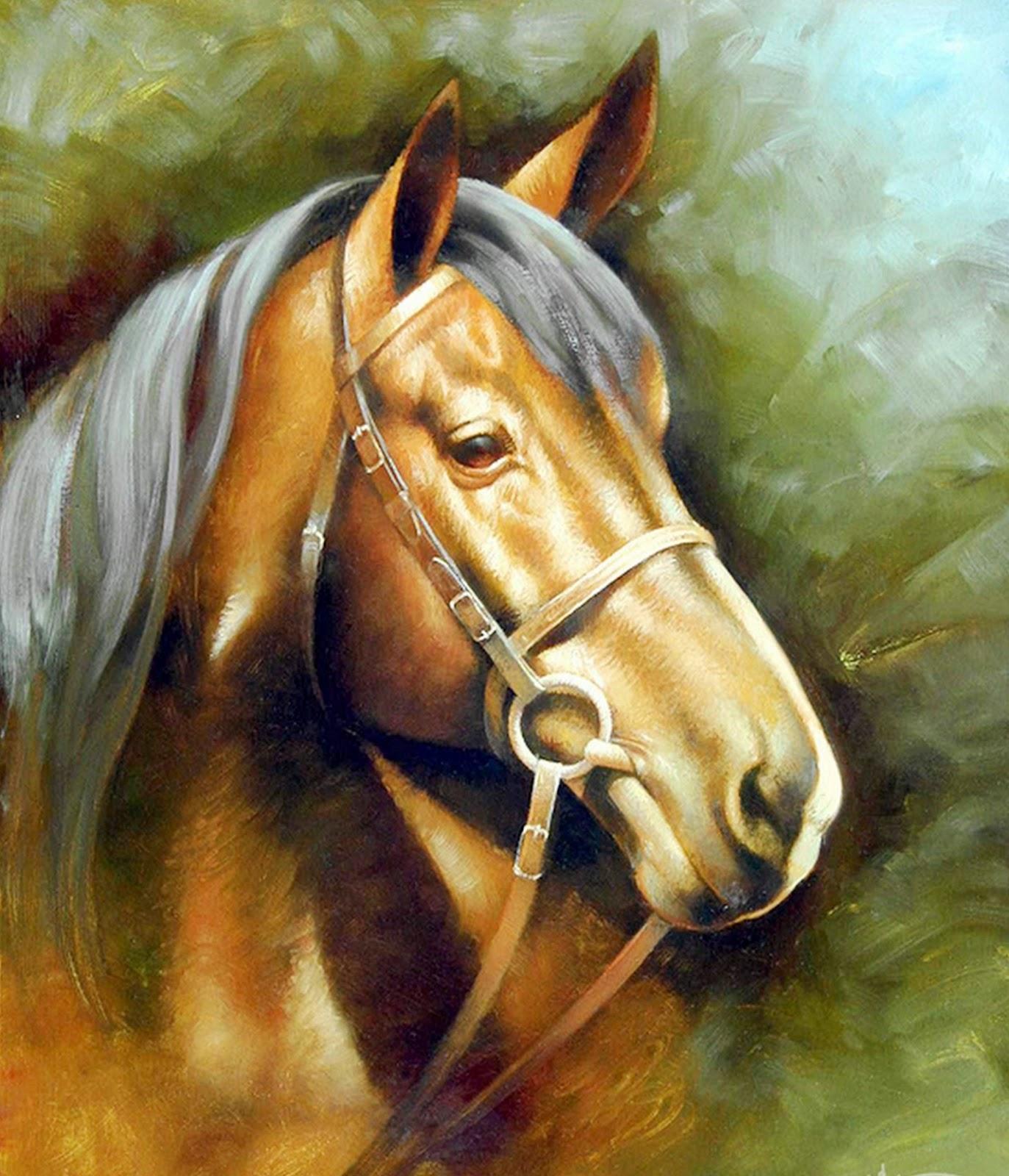 Cuadros modernos pinturas y dibujos cuadros de caballos for Fotos de cuadros abstractos al oleo