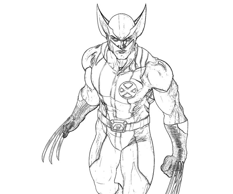 #14 Wolverine Coloring Page
