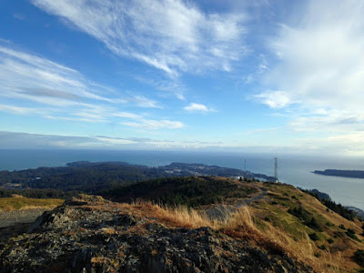 The view from the top of Pillar Mountain on Kodiak Island, Alaska