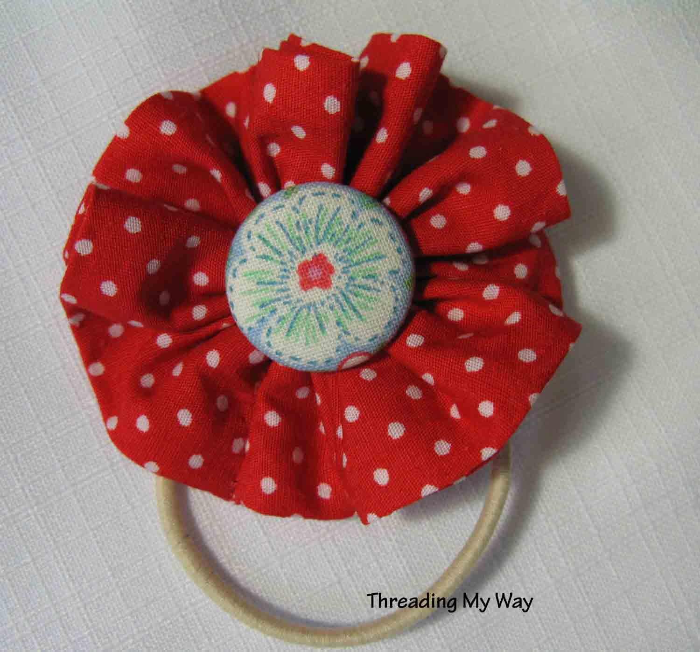 Threading My Way: Flower Hair Tie...