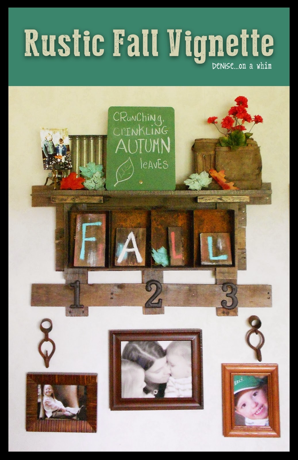 Rusty and Rustic Fall Vignette from Denise on a Whim