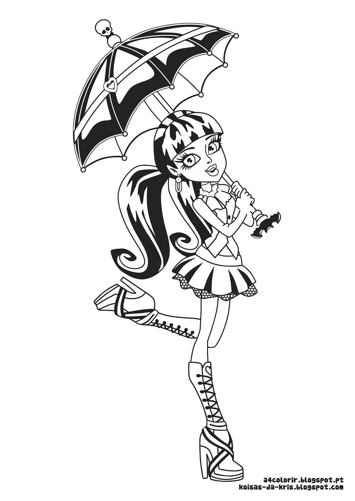 Etiquetas  Desenhos Para Colorir   Infantil   Monster High